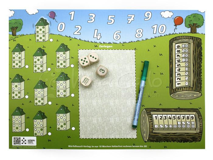 Mathematikspiel Unterlage - Gestalterische Umsetzung